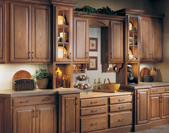 Red Oak Kitchen Cabinets. Full Image For Wooden Shaker Kitchen ...