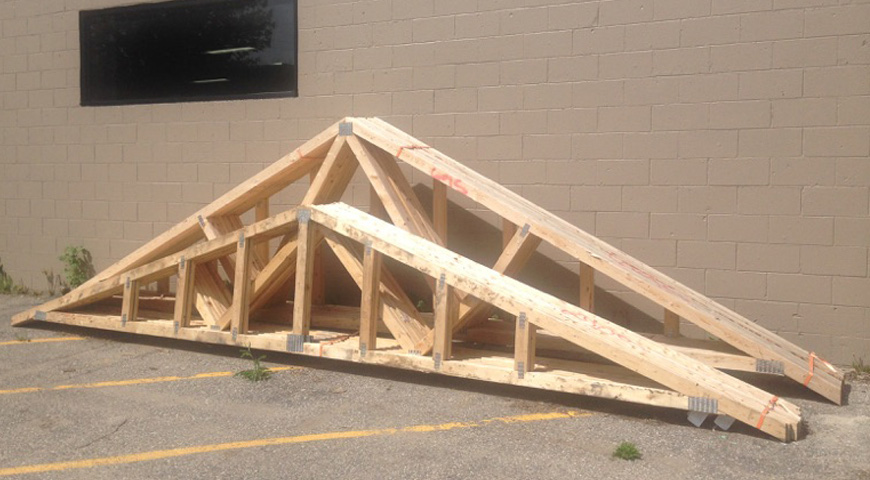 Churchs Lumber roof trusses