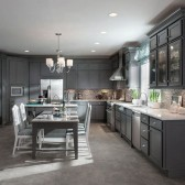 KraftMaid Harper Maple in Greyloft with a contrasting cabinets