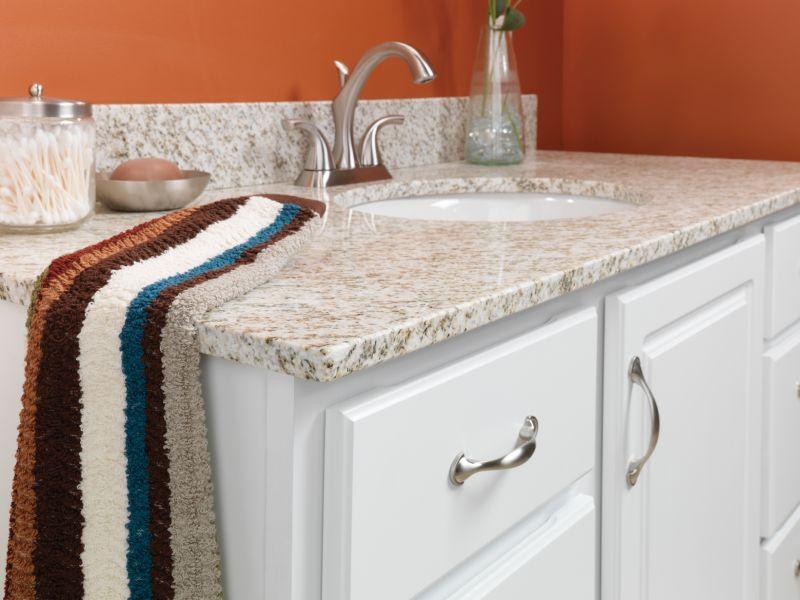 Golden Hill Natural Granite Vanity Top With Denova