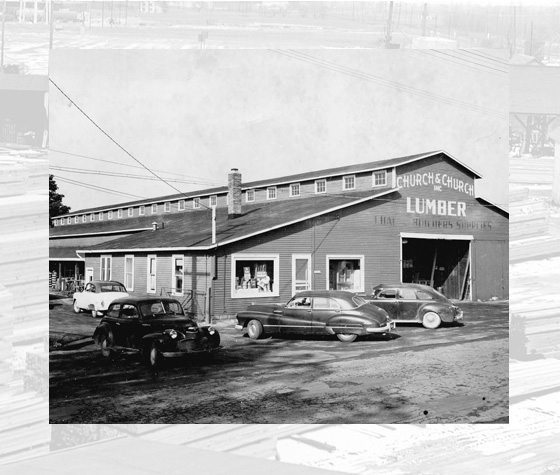 Churchs Lumber Utica Michigan 1940s