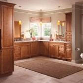 Knollwood Maple Square in Maple Praline luxe transitional master bath