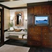 Melrose in Quartersawn Oak Peppercorn Contemporary KraftMaid Bathroom